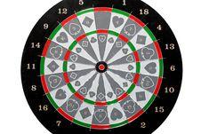 Free Dartboard Circle Stock Image - 6530461