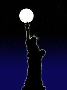 Free Statue Of Liberty At Night 1 Royalty Free Stock Image - 6530766