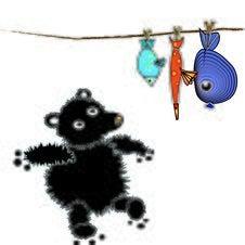 Free Bear And Fish Royalty Free Stock Image - 6530856