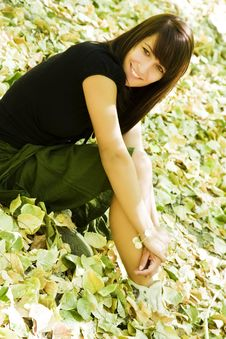 Free Young Woman In Autumn Background Royalty Free Stock Photography - 6530897