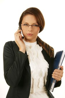 Free Portrait Of A Young Attractive Business Woman. Stock Image - 6531731