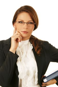 Free Portrait Of A Young Attractive Business Woman. Stock Photos - 6531743