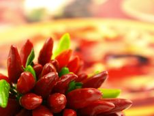 Free Chili Pepper And Hot Red Pepper Very Close Stock Photography - 6532212