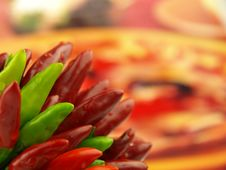 Free Chili Pepper And Hot Red Pepper Very Close Royalty Free Stock Photo - 6532255