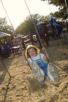 Free Little Girl Playing At Park Stock Images - 6532444