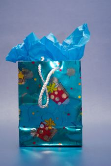 Blue Gift Royalty Free Stock Photography
