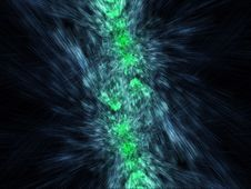 Free Green And Blue Mirrored Particles Emission Royalty Free Stock Photos - 6533138