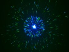 Free Blue And Green Particles Emission Stock Photography - 6533152