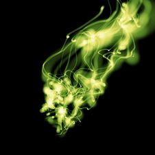Free Bright Green Smoky Background Stock Image - 6533261