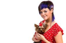 Free The  Girl And Small Dog Stock Photo - 6533550