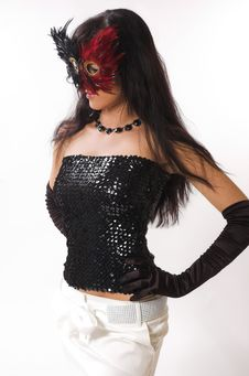 Free The Girl And A Mask Royalty Free Stock Photos - 6533598