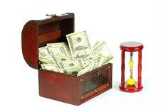 Box With Money Stock Photo