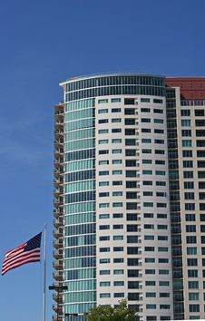 Free Condos And American Flag Stock Images - 6534094