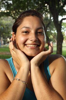 Beautiful Young Woman Smiling Royalty Free Stock Photos