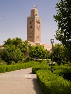 Free Mosque Koutoubia Marocco Royalty Free Stock Images - 6535029