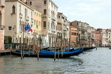 Gondolas Royalty Free Stock Photo