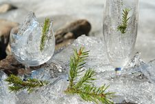 Free Glasses With Ice Royalty Free Stock Image - 6535456