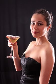Free Woman And Martini Glass Stock Photo - 6535460