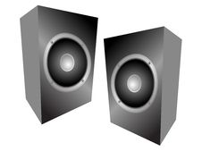 Free Audio Speakers Royalty Free Stock Photography - 6536177
