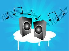 Free Background With Audio Speakers Stock Photos - 6536213