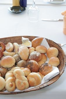 Breads At Restaurant Stock Photography