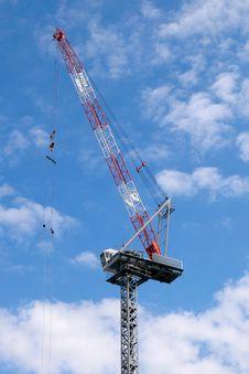 A Construction Crane Royalty Free Stock Photos