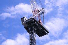 A Construction Crane Stock Image