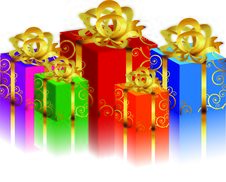 Gift Boxs Stock Images