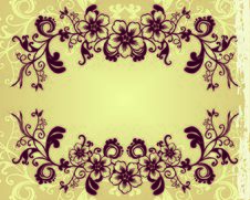 Free Vector Floral Background Royalty Free Stock Image - 6537116