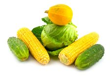 Free Tasty Useful Yellow Vegetables Royalty Free Stock Photo - 6537235