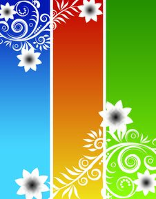 Free Vector Floral Background Royalty Free Stock Images - 6537309
