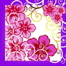 Free Vector Floral Background Stock Photos - 6537483