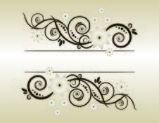 Free Vector Floral Background Royalty Free Stock Images - 6537499