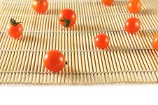 Free Tomatoes On Bamboo Mat Royalty Free Stock Photography - 6538177