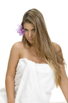 Free Posing Blonde Woman In Towel Royalty Free Stock Photo - 6538525