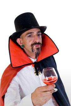 Halloween, Count Dracula Royalty Free Stock Photos