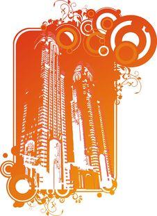 Free Vector City Skyscrapers Royalty Free Stock Photos - 6539518