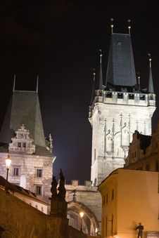 Free Prague Night Scenery Royalty Free Stock Photo - 6539725