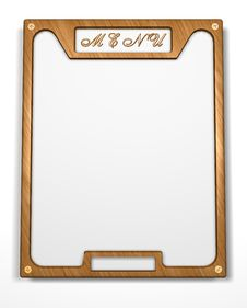 Free Frame. Menu. Form. Banner. 3D Rendering Of The Menu Frame Royalty Free Stock Photo - 6539785