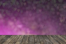 Free Wooden Deck Table With Foliage Bokeh Background. Royalty Free Stock Photography - 65321517