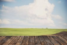 Free Wood Top On Summer Landscape Stock Photo - 65321660