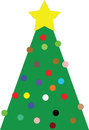 Free Christmas Tree With Yellow Star Royalty Free Stock Photos - 65356318