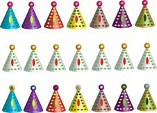 Free Party Hats Royalty Free Stock Photo - 65355675