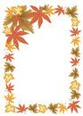 Free Frame Of Fallen Autumn Leaves Royalty Free Stock Images - 6541179