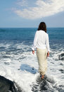 Free Woman In The Ocean Royalty Free Stock Photos - 6545168