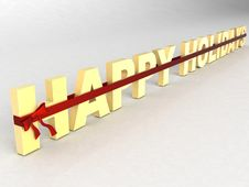 Free Three Dimensional Holidays Text Royalty Free Stock Images - 6540829