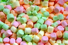 Colorful Miniature Marshmallows Stock Image