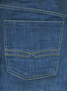 Jeans Backpocket XXL Image Royalty Free Stock Photography