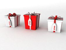 Free Three Dimensional Wrapped Gift Boxes Royalty Free Stock Photo - 6541005