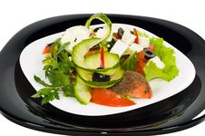 Free Salad With Moldavian Brynza Royalty Free Stock Photography - 6541057